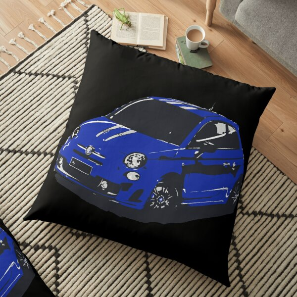 FIAT 500 Abarth - Cute Little Italian City Car Floor Pillow