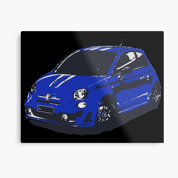 FIAT 500 Abarth - Cute Little Italian City Car Metal Print
