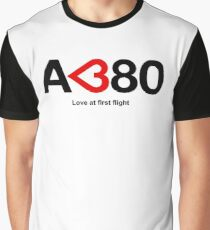 Airbus A380 - Love at First Flight Graphic T-Shirt
