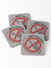 Anti-Saxxer Coasters