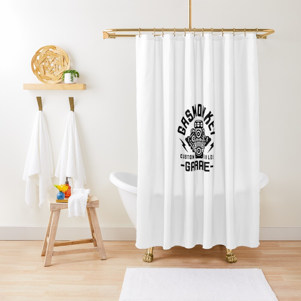 Gas Monkey Garage Marchandise Shower Curtain By Nanzoo Redbubble
