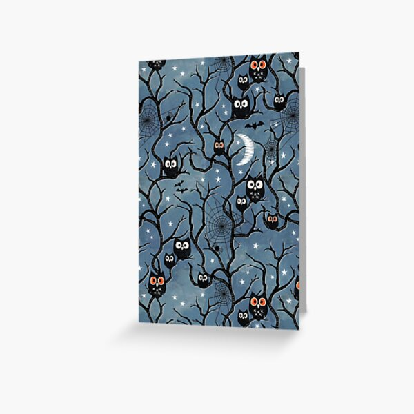 Spooky woods owls Greeting Card
