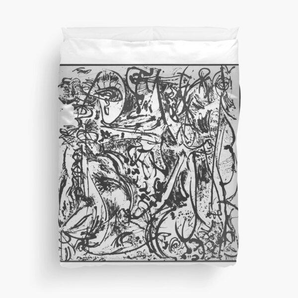 Jackson Pollock Last Works Duvet Cover