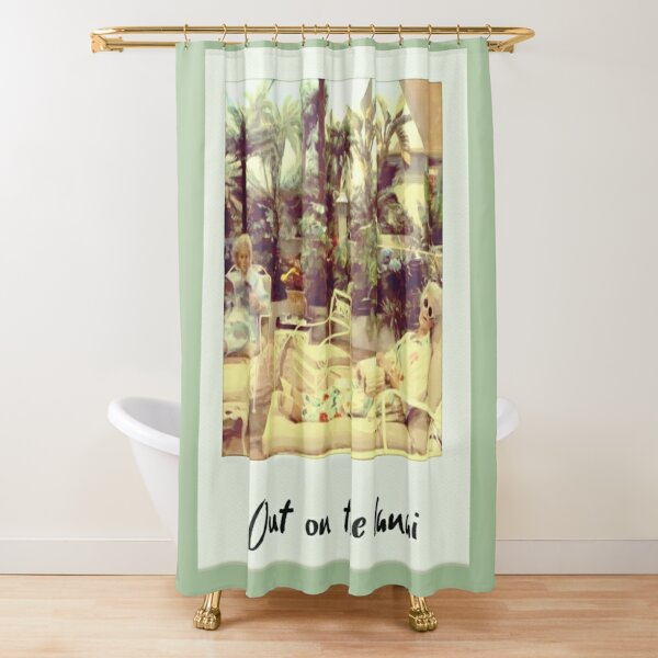 Out On The Lanai Shower Curtain