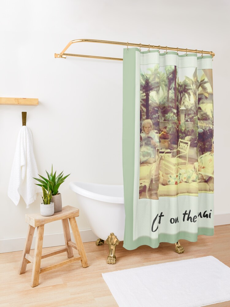 Alternate view of Out On The Lanai Shower Curtain