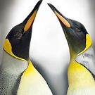 """Cool Affection"" - King Penguins by ArtThatSmiles"