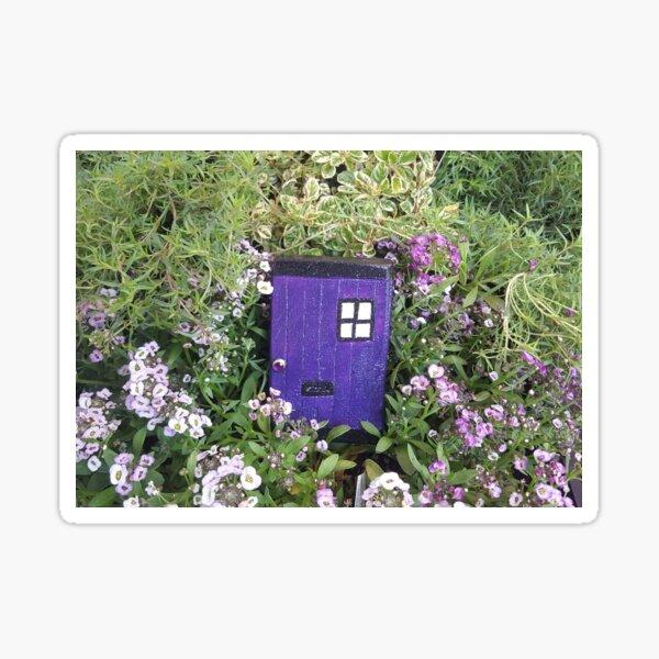Mini Purple Witch Fairy Door Sticker