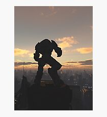 Future City - Robot Sentinel at Sunset Photographic Print