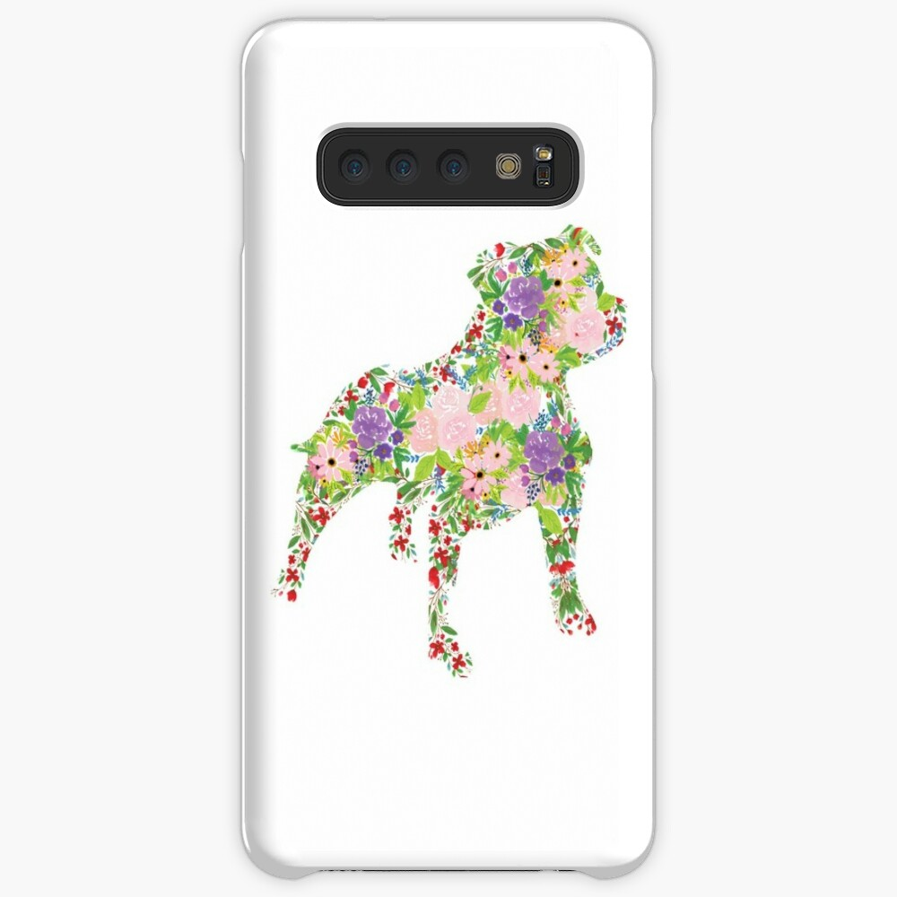 Floral Staffordshire Bull Terrier Case & Skin for Samsung Galaxy