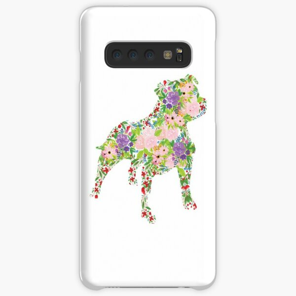 Floral Staffordshire Bull Terrier Samsung Galaxy Snap Case