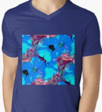 Blue Petunias Men's V-Neck T-Shirt