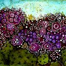 Abstract Cactus - Original Alcohol Ink by Cyndi Mahlstadt