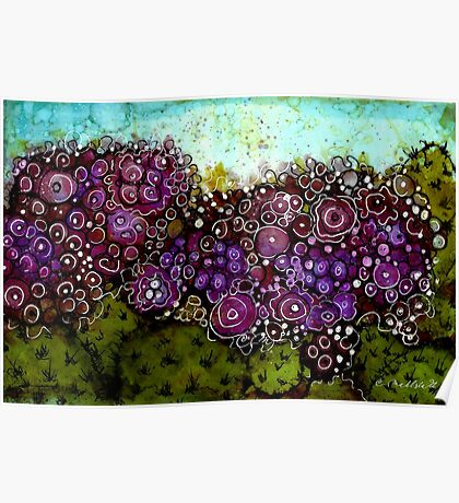 Abstract Cactus - Original Alcohol Ink Poster