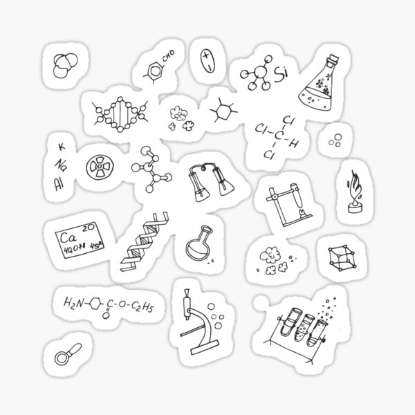 Tons of Chem Doodle Stickers Sticker
