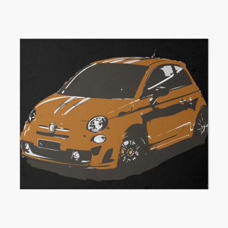 FIAT 500 Abarth - Cute Little Italian City Car Art Board Print