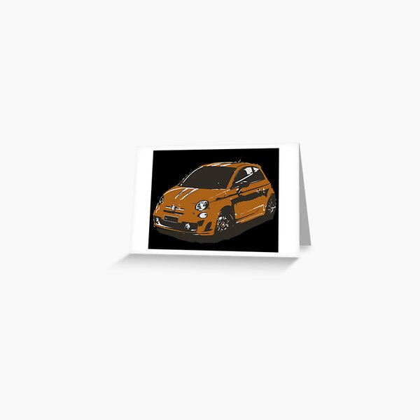 FIAT 500 Abarth - Cute Little Italian City Car Greeting Card