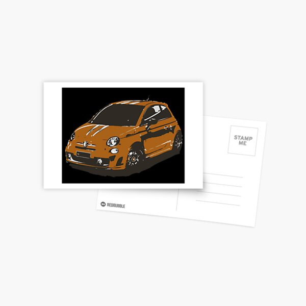 FIAT 500 Abarth - Cute Little Italian City Car Postcard
