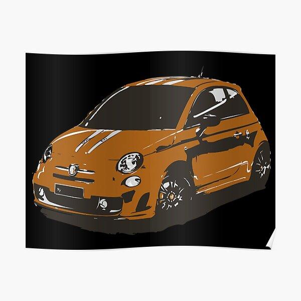 FIAT 500 Abarth - Cute Little Italian City Car Poster