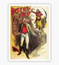 Desert Alf vintage explorer poster Sticker