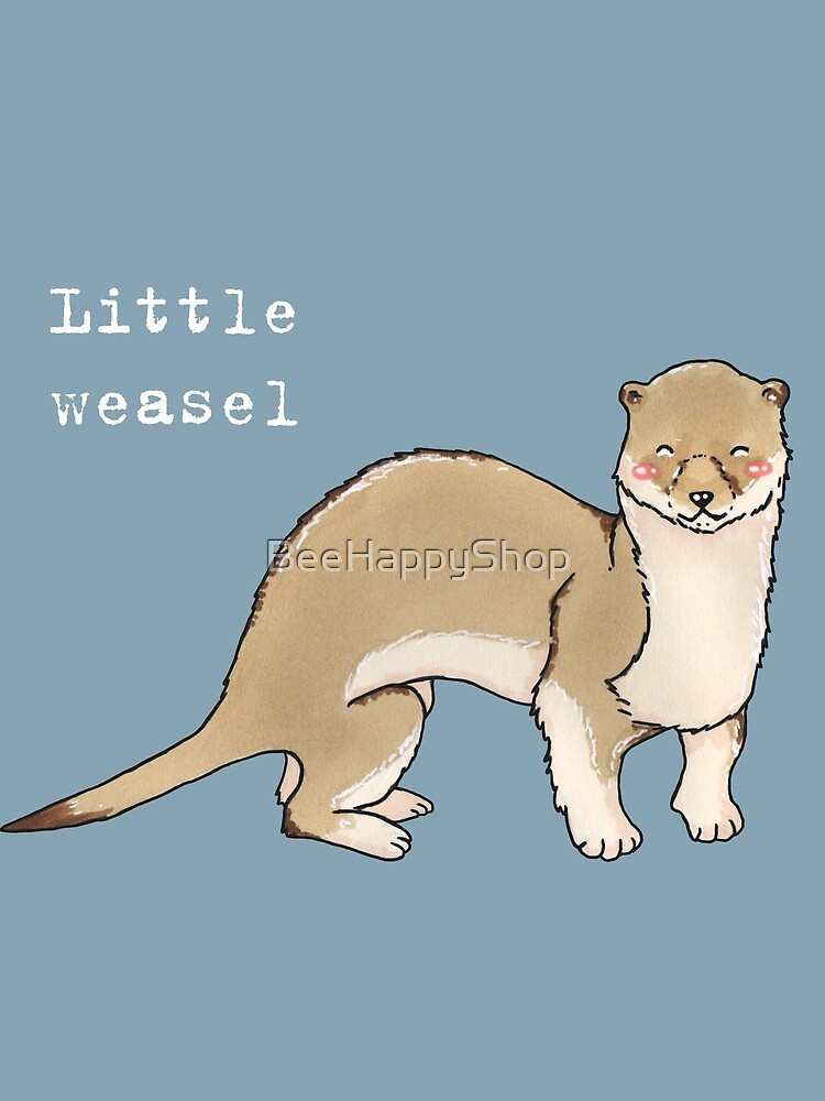A little weasel - Animals series by BeeHappyShop