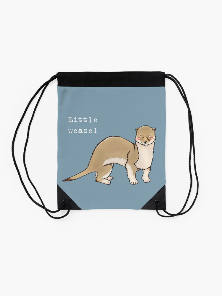 Alternate view of A little weasel - Animals series Drawstring Bag