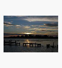 Budgewoi lake,,9-11-2010.Sunrise.No2. Photographic Print