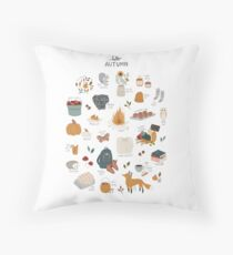 Hello Autumn Throw Pillow