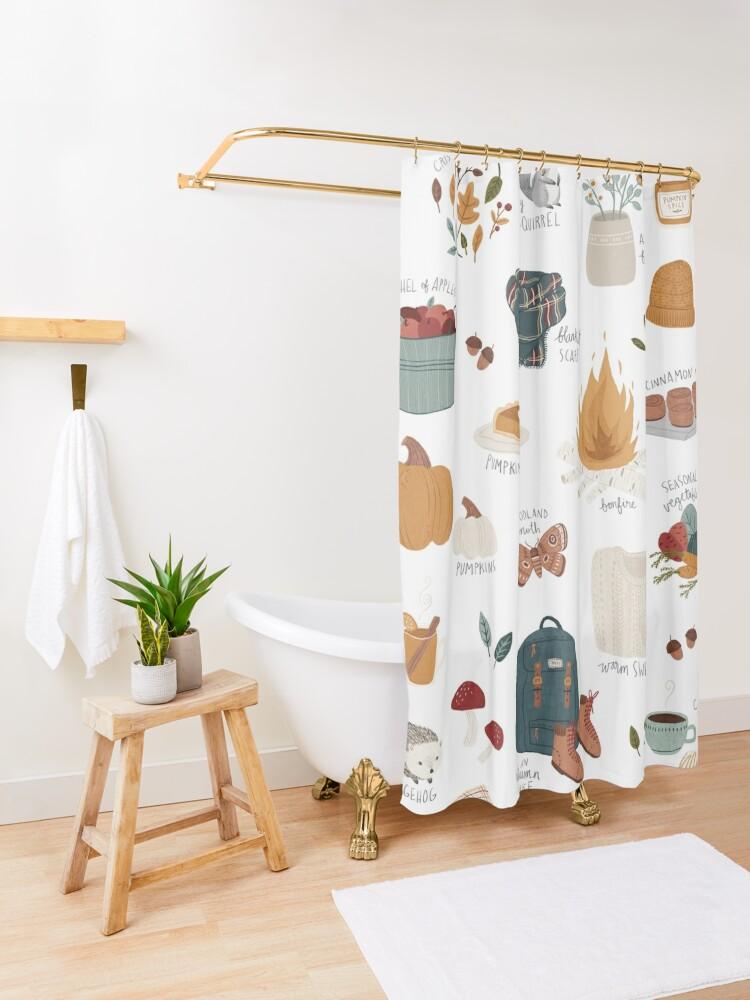 Alternate view of Hello Autumn Shower Curtain