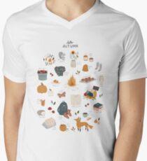 Hello Autumn V-Neck T-Shirt