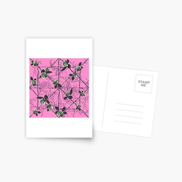 Barbed Rose - Pastel Pink Postcard