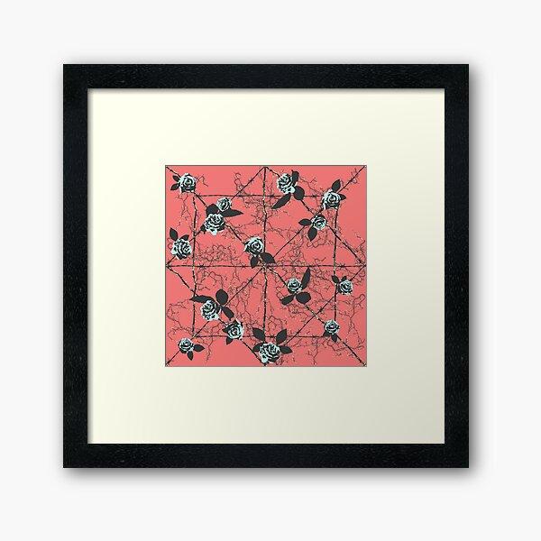 Barbed Rose - Pastel Red Framed Art Print