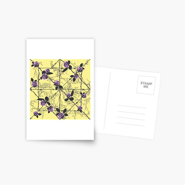 Barbed Rose - Pastel Yellow Postcard