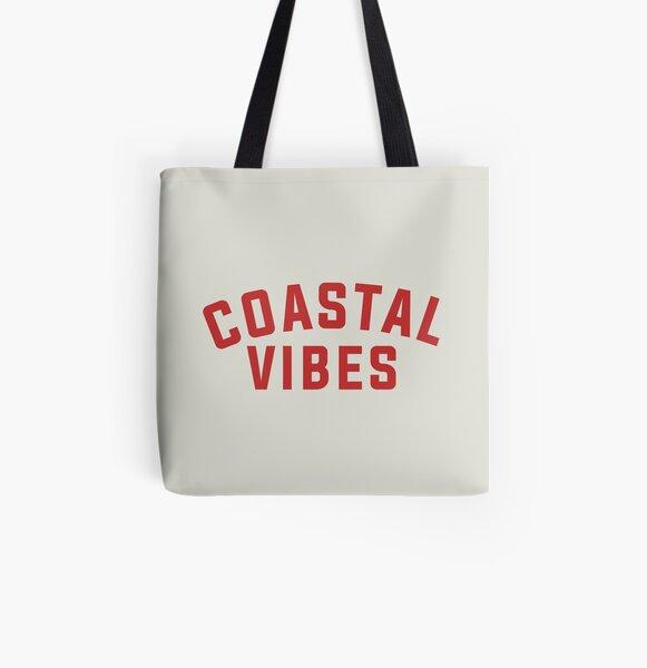 Coastal Vibes All Over Print Tote Bag