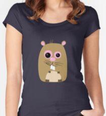 Cartoon Hamster Women's Fitted Scoop T-Shirt
