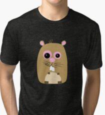 Cartoon Hamster Tri-blend T-Shirt