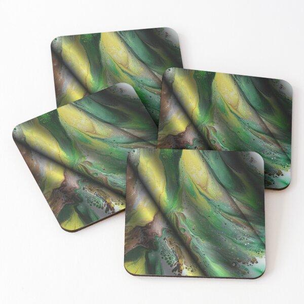 Summer Silk Coasters (Set of 4)