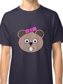 Cartoon Girl Beaver Face Classic T-Shirt