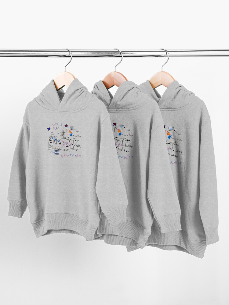 Alternate view of Kevin's Battle Plan Toddler Pullover Hoodie