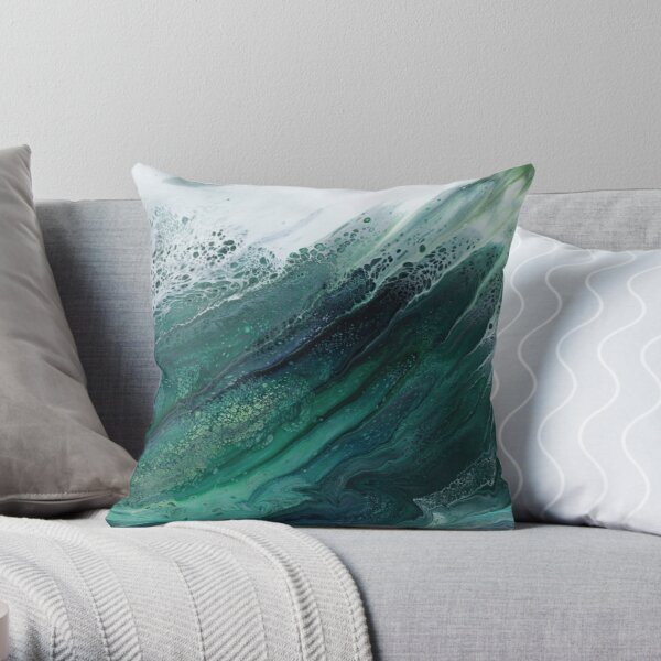 The Wave Rises Throw Pillow