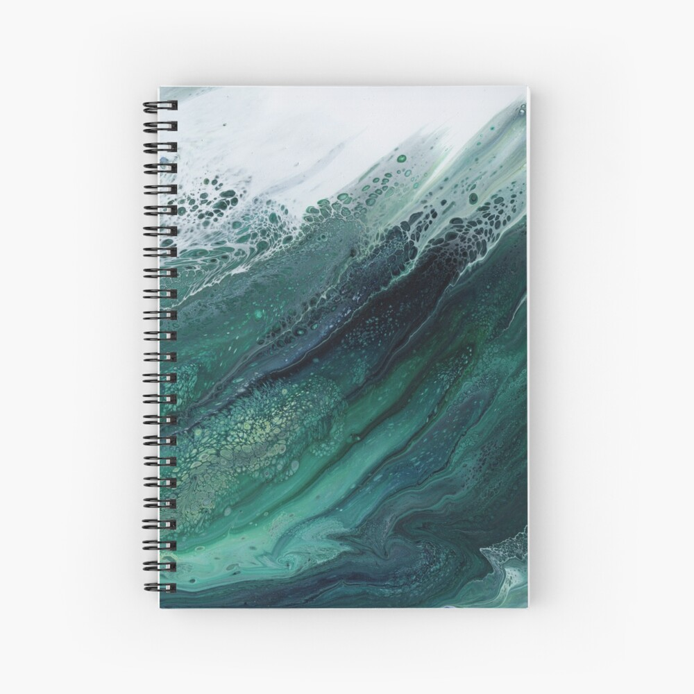 The Wave Rises Spiral Notebook