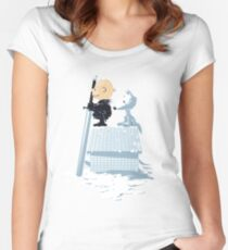 WINTER PEANUTS Women's Fitted Scoop T-Shirt