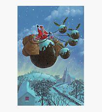 christmas pudding santa ride Photographic Print
