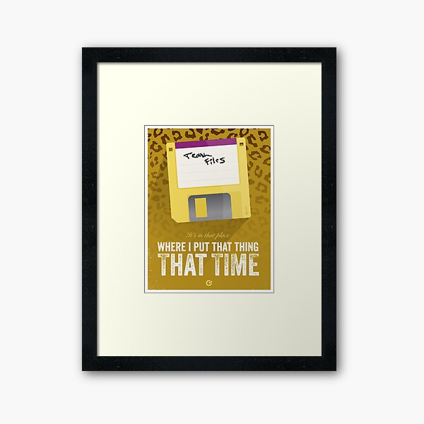 Hackers Movie - Floppy Disk - Cinema Obscura Collection Framed Art Print