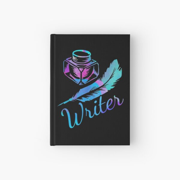 Writer, Quill and Ink, Watercolor Hardcover Journal