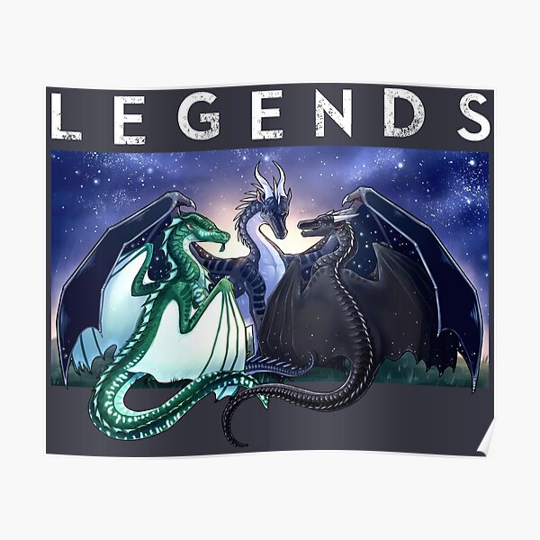 Wings of Fire - Legends - Fathom, Darkstalker, Clearsight Poster