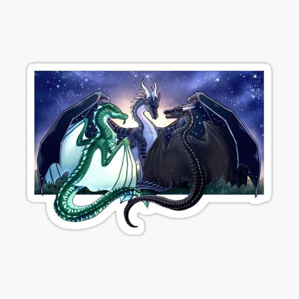 Wings of Fire - Legends - Fathom, Darkstalker, Clearsight Sticker