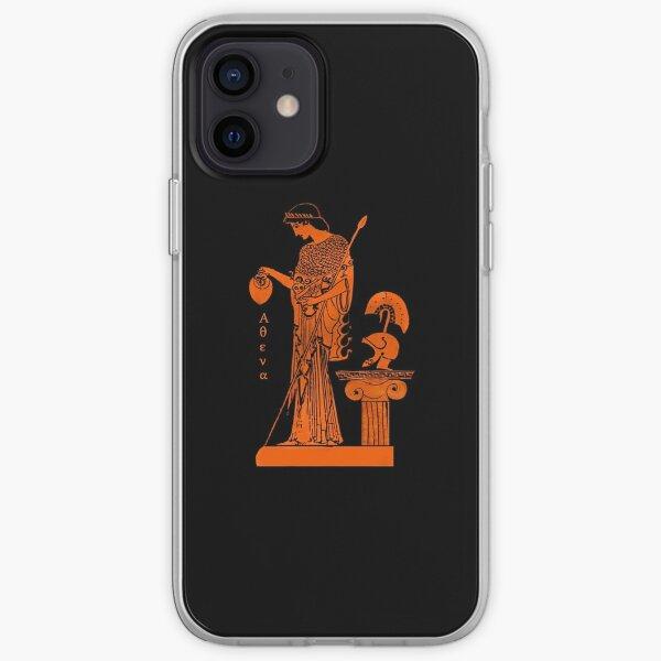 Athena Minerva red figure vase iPhone Soft Case