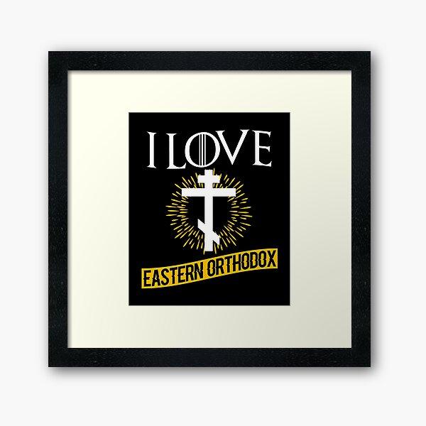 Love Eastern Orthodox Framed Art Print