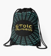 Stoic Calmness - Find Your Calm - Resist Anger Drawstring Bag