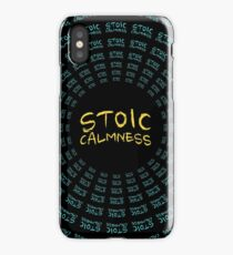 Stoic Calmness - Find Your Calm - Resist Anger iPhone Case